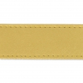 Imitation leather gallon with stitches 25mm Gold  x 50cm