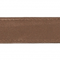 Imitation leather gallon with stitches 25mm Dark Bronze x 50cm