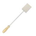 Large stainless steel spatula with wooden handle for Prometheus KILN