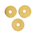 Flat Washers Heishi style made of brass  4 mm Gold Tone x10