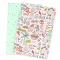 Paper Poetry Notebook 145x210 mm Magical Summer x2