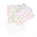 Set of cards and envelopes A6 Paper Poetry Magical Summer x 5