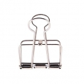 Double wire clip by Paper Poetry 51 mm silver tone  x1