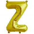 Aluminum balloon for festive decoration Yey - Let's Party letter Z gold tone x1