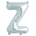 Aluminum balloon for festive decoration Yey - Let's Party letter Z silv x1