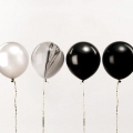 12balloons for festive decoration Yey  - Let's Party Mix Black and White x1