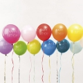 12 balloons for festive decoration Yey - Let's Party HB Multicolored x1