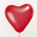 12 balloons for festive decoration Yey - Let's Party Heart Red x1