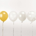 12 balloons for festive decoration Yey - Let's Party Mix White x1