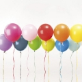 12 balloons for festive decoration Yey - Let's Party Mix Multicolored x1