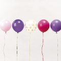12 balloons for festive decoration Yey - Let's Party Mix Princess x1