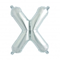 Aluminum balloon for festive decoration Yey - Let's Party letter X silver x1