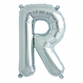 Aluminum balloon for festive decoration Yey - Let's Party letter R silver x1