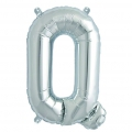 Aluminum balloon for festive decoration Yey - Let's Party letter Q silver x1
