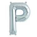 Aluminum balloon for festive decoration Yey - Let's Party letter P silver x1