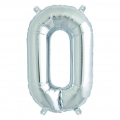 Aluminum balloon for festive decoration Yey - Let's Party letter O silver x1