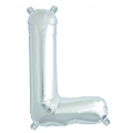 Aluminum balloon for festive decoration Yey - Let's Party letter L silver x1