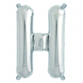 Aluminum balloon for festive decoration Yey - Let's Party letter H silver x1