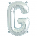 Aluminum balloon for festive decoration Yey - Let's Party letter G silver x1