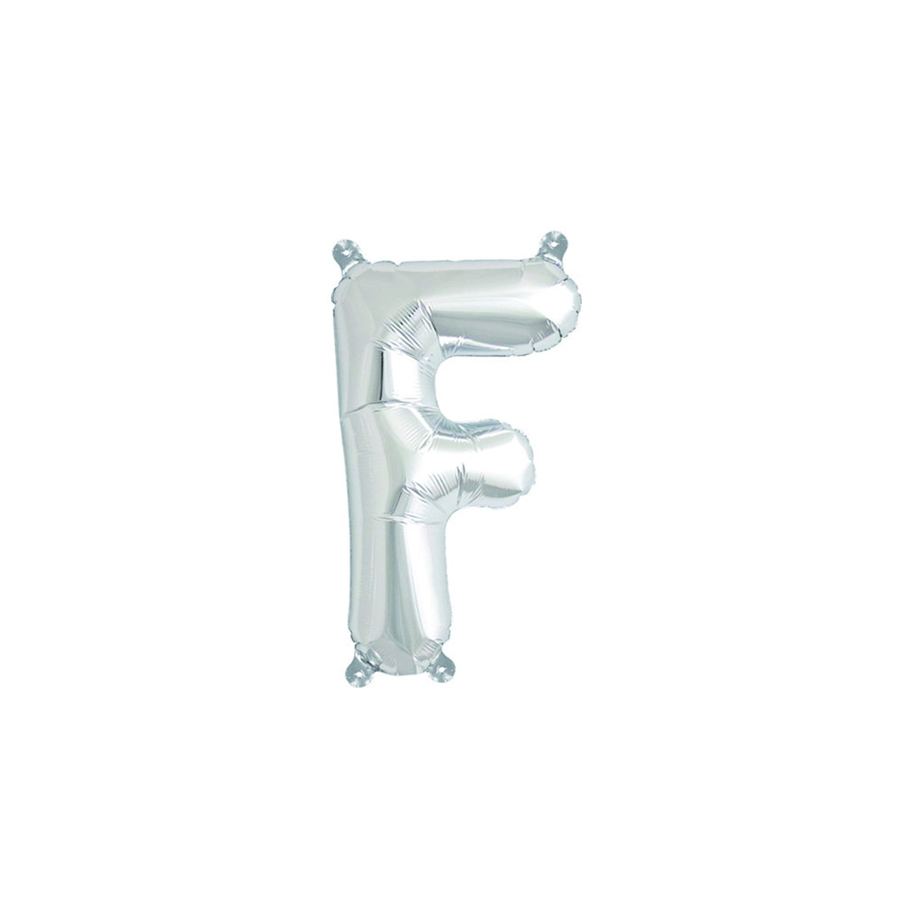 Aluminum balloon for festive decoration yey let 39 s party for Letter f decoration