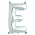Aluminum balloon for festive decoration Yey - Let's Party letter E silver x1