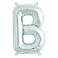 Aluminum balloon for festive decoration Yey - Let's Party letter B silver x1