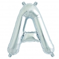 Aluminum balloon for festive decoration Yey - Let's Party letter A silver x1