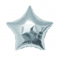 Aluminum balloon for festive decoration Yey - Let's Party star silver x1