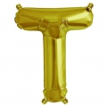 Aluminum balloon for festive decoration Yey - Let's Party letter U Gold Tone x1