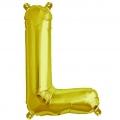 Aluminum balloon for festive decoration Yey - Let's Party letter L Gold Tone x1