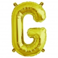 Aluminum balloon for festive decoration Yey - Let's Party letter G Gold Tone x1