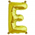 Aluminum balloon for festive decoration Yey - Let's Party letter E Gold Tone x1