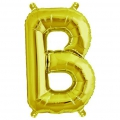 Aluminum balloon for festive decoration Yey - Let's Party letter B Gold Tone x1
