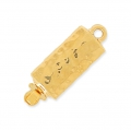 Clasp  to be clipped rectangular hammered 6x18 mm Gold Tone