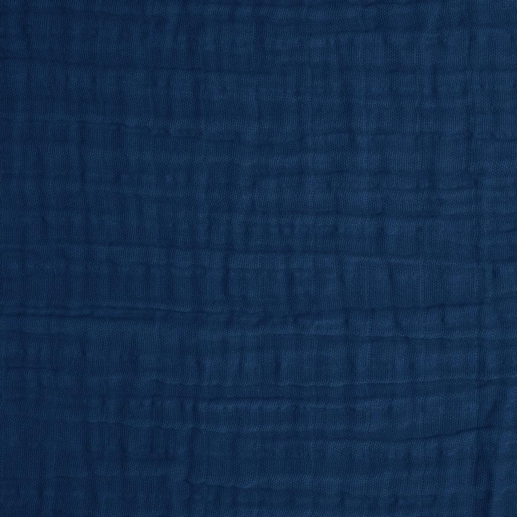 Double Gauze Cotton Fabric Cobalt X10cm Perles Amp Co
