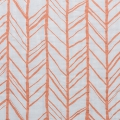 Double gauze cotton Fabric - Embrace collection - Herringbone Papaya x10cm