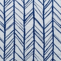 Double gauze cotton Fabric - Embrace collection - Herringbone Royal x10cm