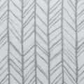 Double gauze cotton Fabric - Embrace collection - Herringbone Steel x10cm