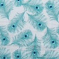 Double gauze cotton Fabric - Embrace collection - Plumage Teal x10cm
