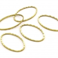 Spacer  for beadweaving ovale fancy 26x16 mm gold tone