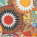 Free Spirit Fabric - Tribal by Snow Leopard - Terracotta African x10cm