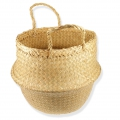 Soft and foldable african dual function bag 30x39 cm Natural x1