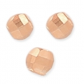 Faceted beads 3 mm with a 1.1 mm hole Gold Tone Rose HQ x10
