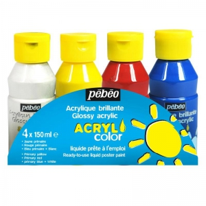 Acrylic painting for kids - Set Acrylcolor Classique 4 x 150 ml