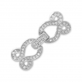 Clasp to clip for watches/weaving 30x12mm with rhinestones style micro pave rhodié