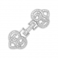 Clasp to clip for watches/weaving 35x14mm with rhinestones style micro pave rhodié