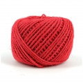 Braided jute cord 2mm Red x 60 m