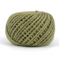 Braided jute cord 2mm Olive  Greenx 60 m