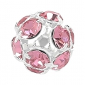rhinestones Ball 10mm Silver-colored Light Rose