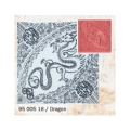 Clay Texture Stamps - 9 cm Dragon